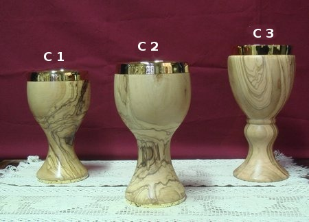 olive wood chalice communion cup