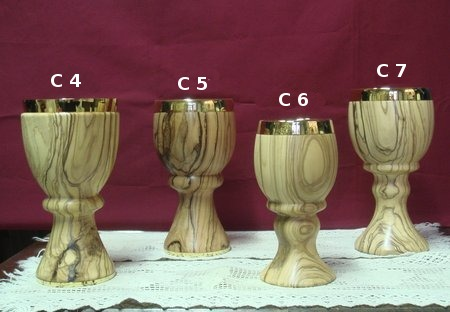 olive wood communion cups