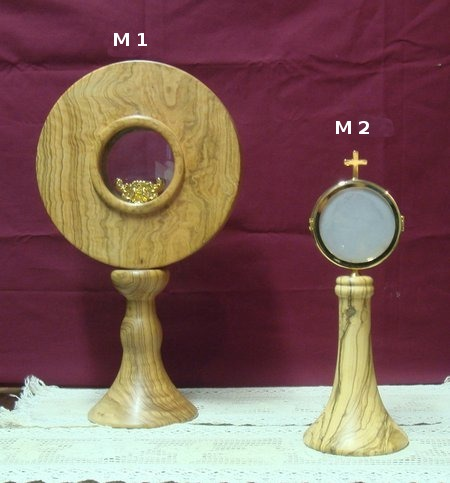 olive wood chapel monstrance